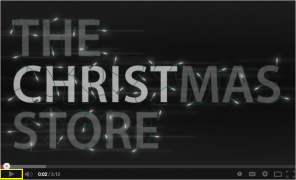 Christmas store 2013 Talia promotion video image
