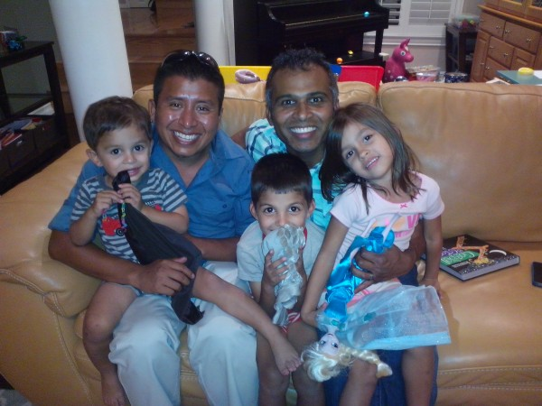 Alwyn Koil and his family.