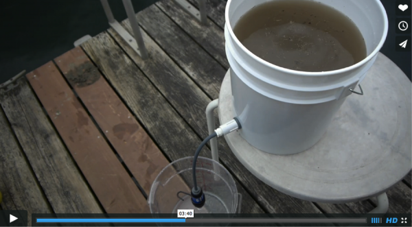 Sawyer Water filter video december 2014